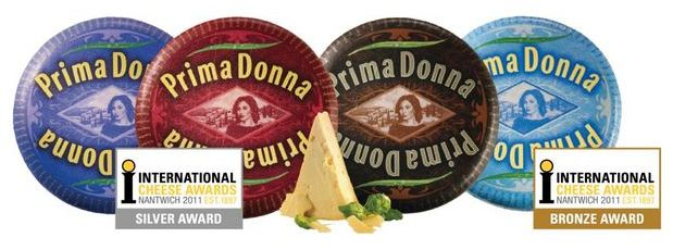 Prima Donna kaasspecialiteiten winnen awards bij International Cheese Awards